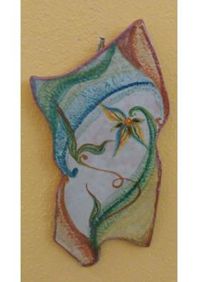 Ceramic Wall Clock - Sardinian ceramic Ceramiche Volo