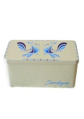 Confezione regalo - scatola in latta della Sardegna con biscotti sardi