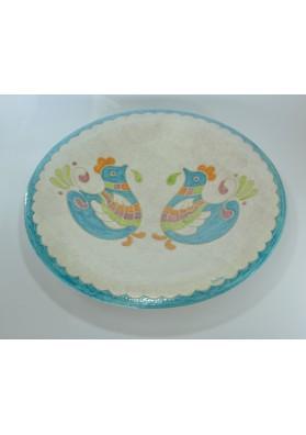 Piatto tondo ceramiche Kerapinta