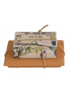 Confezione regalo sapone e porta sapone - S'edera