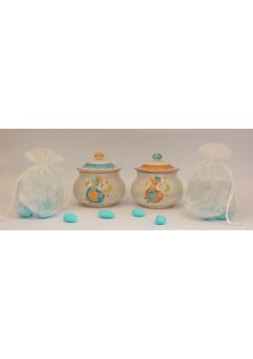 Bomboniera per battesimo in ceramica Sarda - Kerapinta